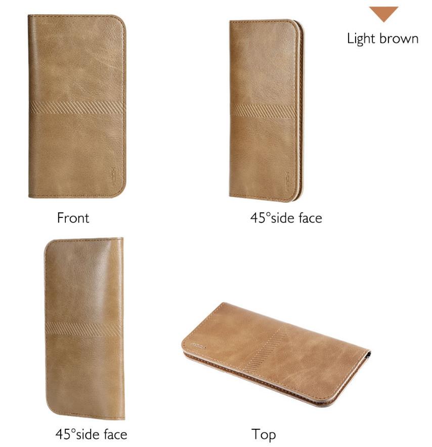 PRO Leaher wallet - kožené pouzdro na telefon a karty Barva: Hnědé