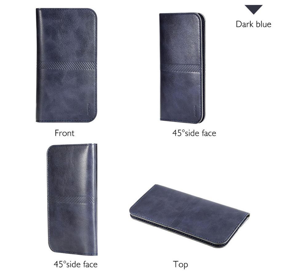 PRO Leaher wallet - kožené pouzdro na telefon a karty Barva: Tmavě modré