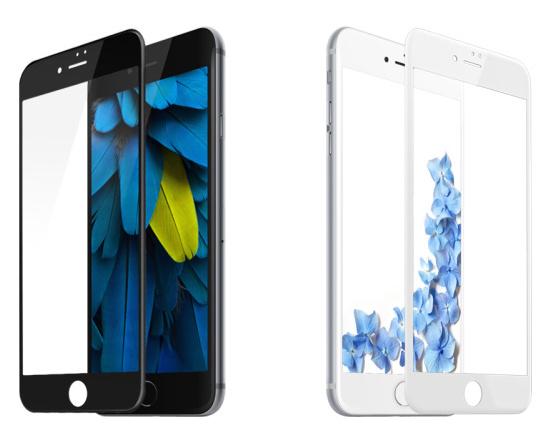 MocoloGlass Zaoblená ochranná skleněná 3D folie pro iPhone 7 Plus Barva: Bílá