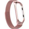 Kovový náramek milánský tah pro Xiaomi Mi Band 4 (Barva Růžově Zlatý)