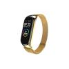 Kovový náramek milánský tah pro Xiaomi Mi Band 5 gold