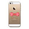 Tenký gumový TPU bowtie pro iPhone 5/5S