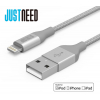 JustNeed nylon lightning cable 1M - nylonový lightning kabel extra odolný