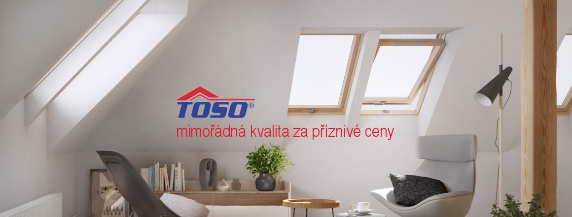Střešní okna a rolety Toso