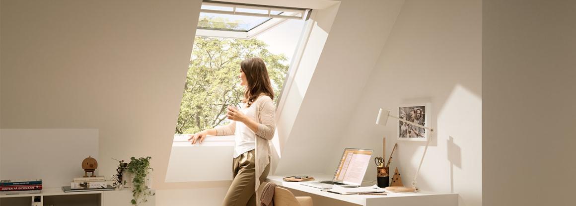 Střešní okna zajistí osvětlení a tím i pohodu v podkrovním bydlení
