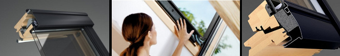 Dřevo GPL střešního okna Velux
