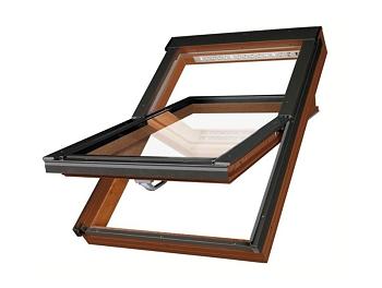 Plastové dekor zlatý dub okno FAKRO PTP-V/GO U3 rozměr: 114x140 cm