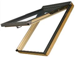 Výklopně - kyvné dřevěné střešní okno FAKRO FPP-V U3 rozměr: 55x98 cm