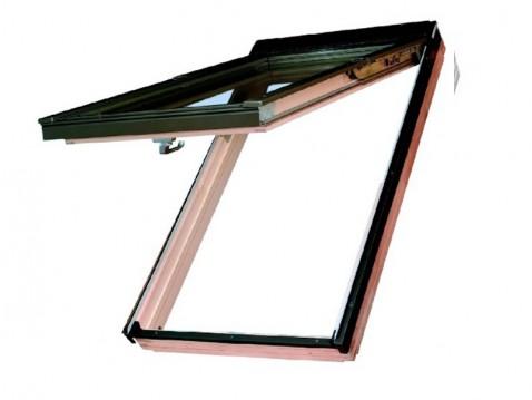 Výklopně - kyvné plastové dekor borovice střešní okno FAKRO PPP-V/PI U3 rozměr: 66x118 cm