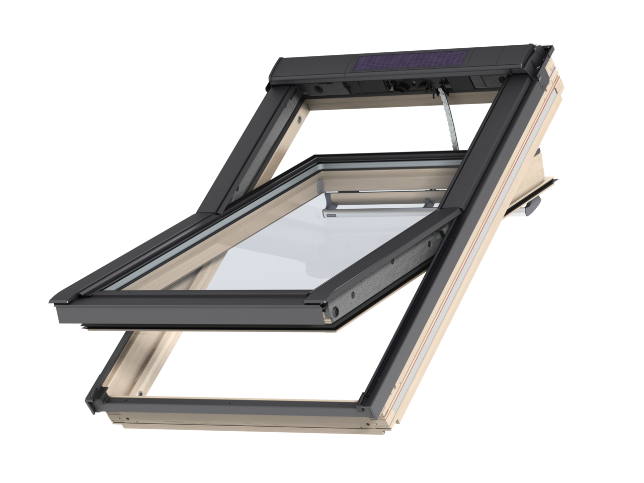 VELUX Elektricky ovládané okno GGL 306630 Solar rozměr: MK08 78x140 cm