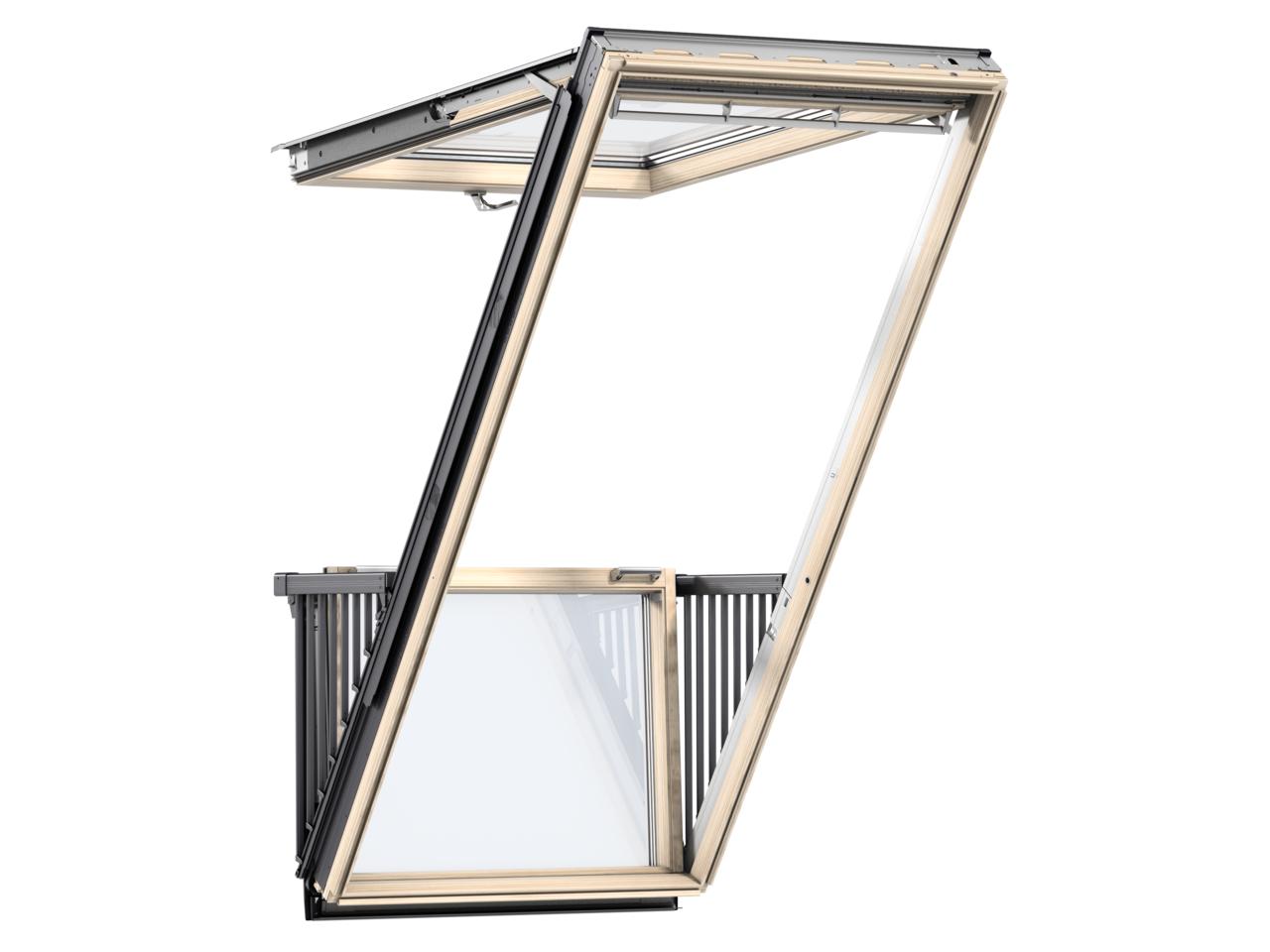 Střešní balkon VELUX GDL Cabrio 3066 s trojskly rozměr: Okno: PK19 94x252 cm