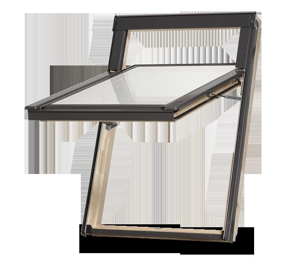 Dřevěné střešní okno DAKEA Better View KHV B100 Rozměr: 78x140 cm