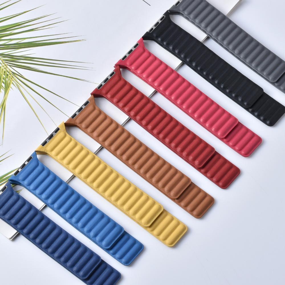 Leather-Link-Strap-for-Apple-Watch-Band-44mm-40mm-Iwatch-3-2-1-38mm-42mm-Magnetic-Loop-Bracelet-Apple-Watch-Series-6-Se-5-4
