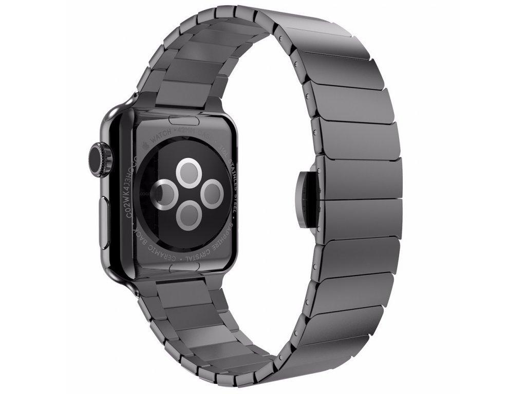 10251 2 clearo butterfly kovovy reminek pasek pro apple watch 42mm cerny