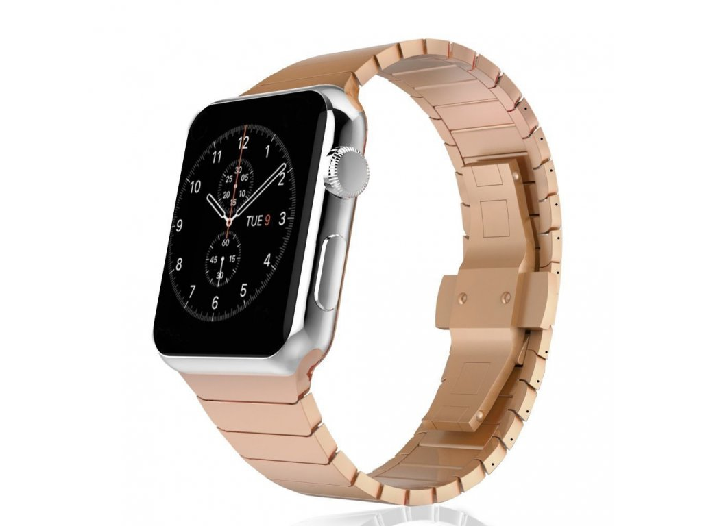 luxusni ocelovy nerezovy reminek pro apple watch 42mm stribrny