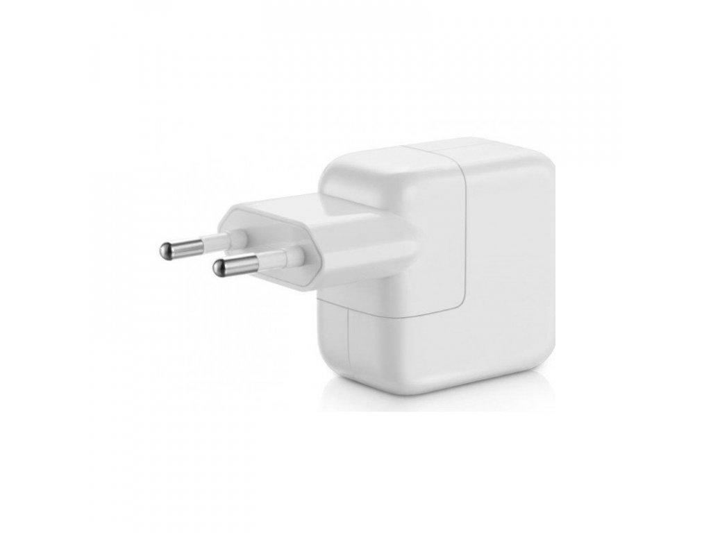 originalni nabijecka adapter 12w s eu zastrckou a usb konektorem pro apple iphone ipad ipod bila