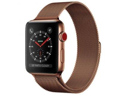 master of bling white steel 14k gold finish 42mm milanese loop apple mesh band watch 0 0 540 540