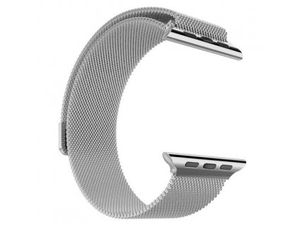 master of bling white steel 14k gold finish 42mm milanese loop apple mesh band watch 0 0 540 540