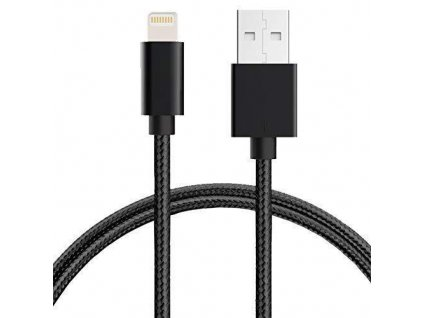 Untech Canvas Fabric Fast Charging Data Cable Black for iPhone Mobile grande