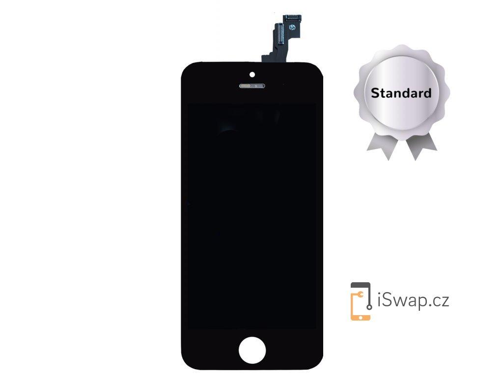 Náhradní LCD displej STANDARD černý pro Apple iPhone 5S/SE