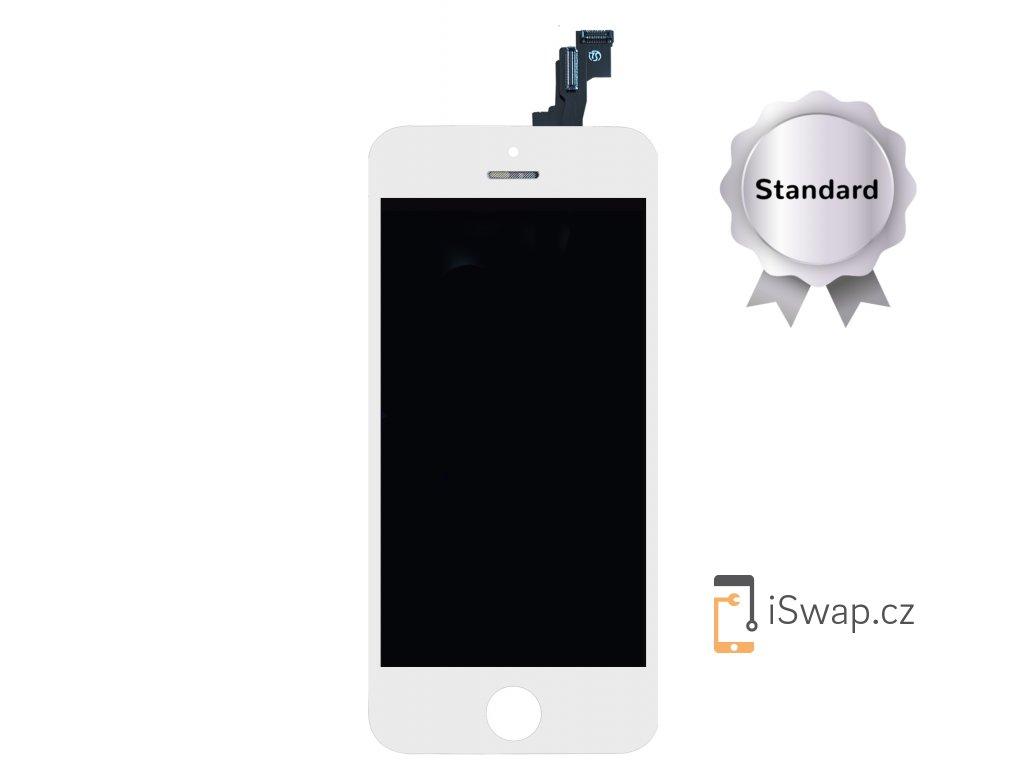 Náhradní LCD displej STANDARD bílý pro Apple iPhone 5S/SE