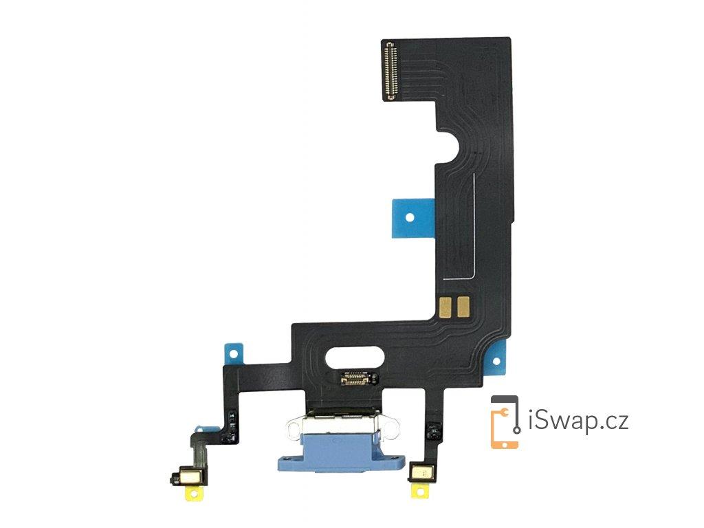 Nabíjecí konektor modrý pro Apple iPhone Xr