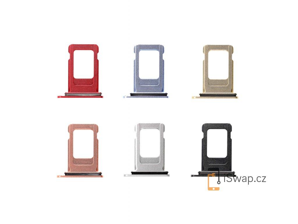 SIM šuplíky pro iPhone Xr. Všechny barvy.