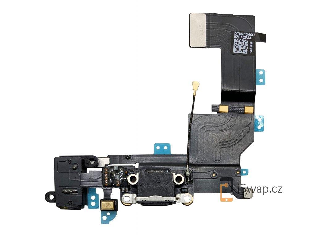Nabíjecí konektor pro Apple iPhone 5S černý