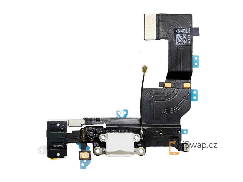 Nabíjecí konektor pro Apple iPhone 5S bílý