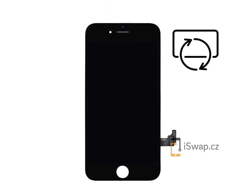 Originální repasovaný displej pro Apple iPhone 8 Plus černý.
