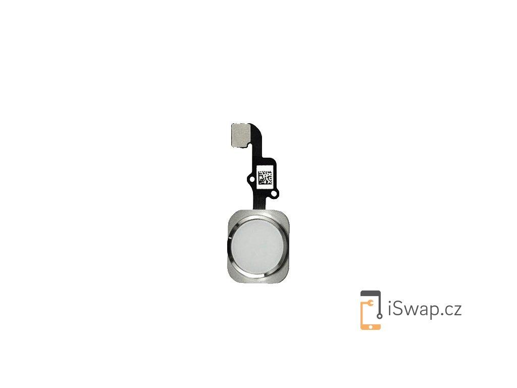 Náhradní domácí tlačítko pro Apple iPhone 6 a 6 Plus stříbrný
