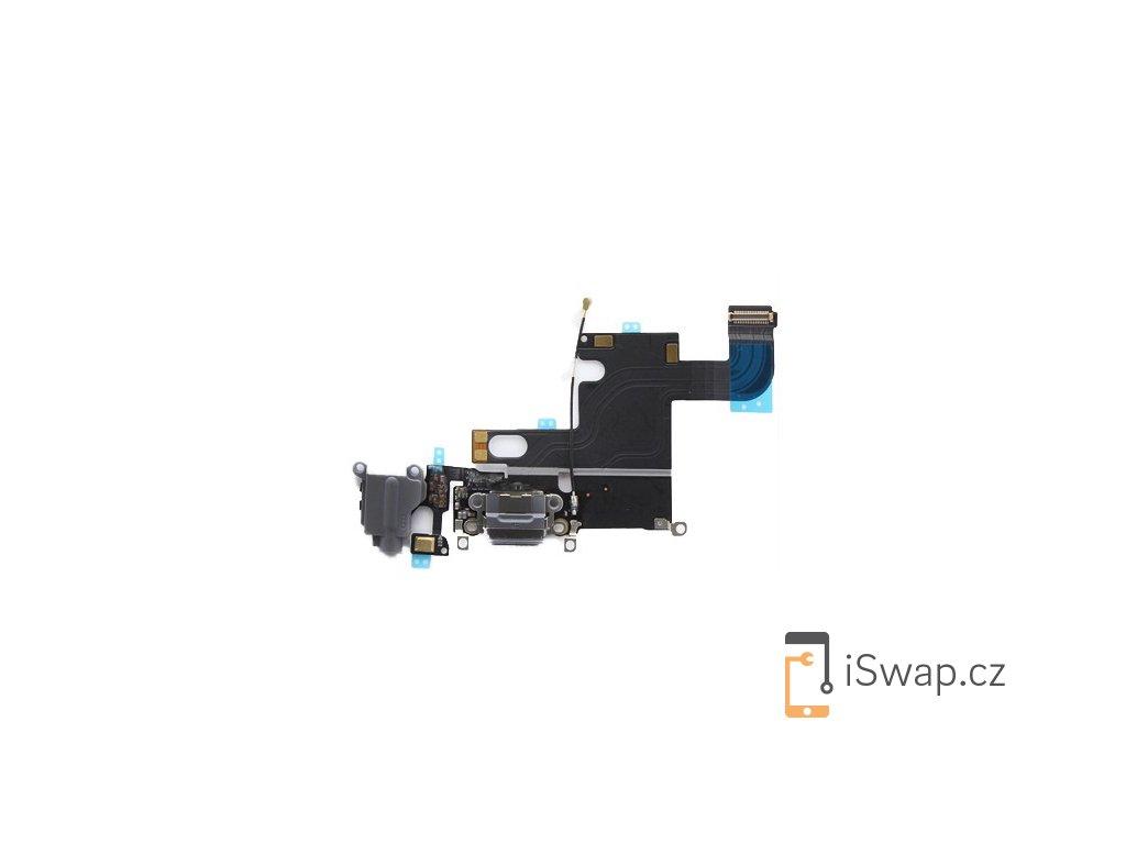 Nabíjecí konektor šedý pro Apple iPhone 6