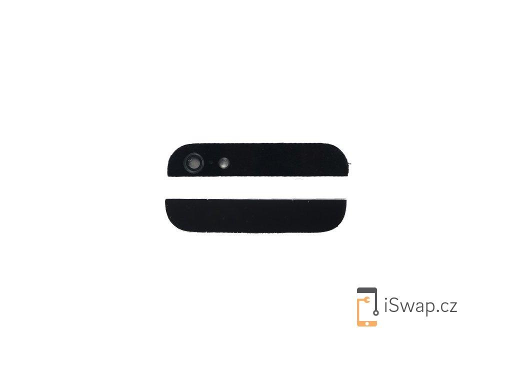 Náhradní zadní sklíčka pro Apple iPhone 5 černý
