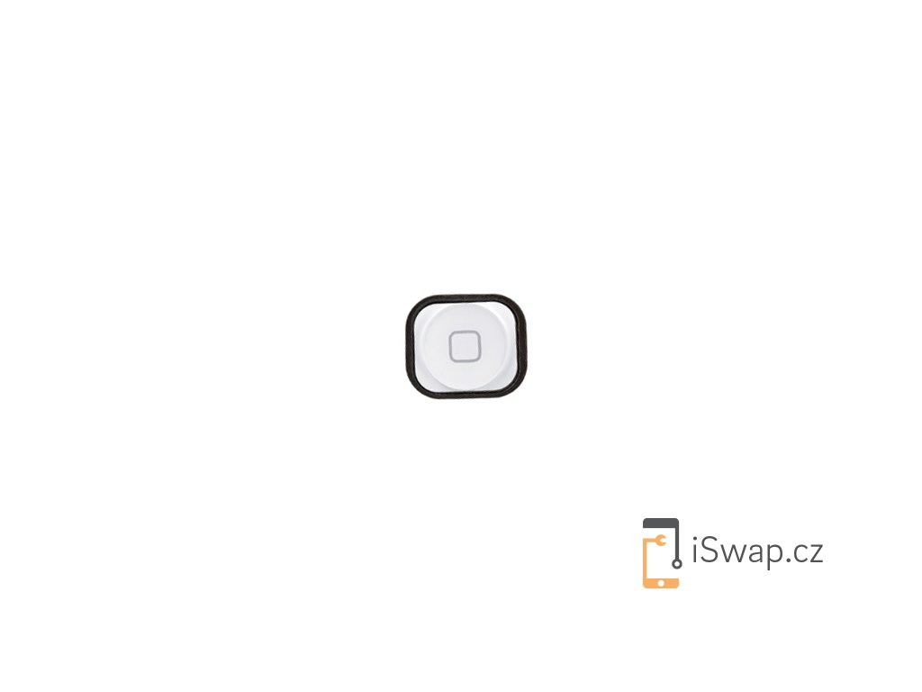Náhradní čepička domácího tlačítka pro Apple iPhone 5 bílý