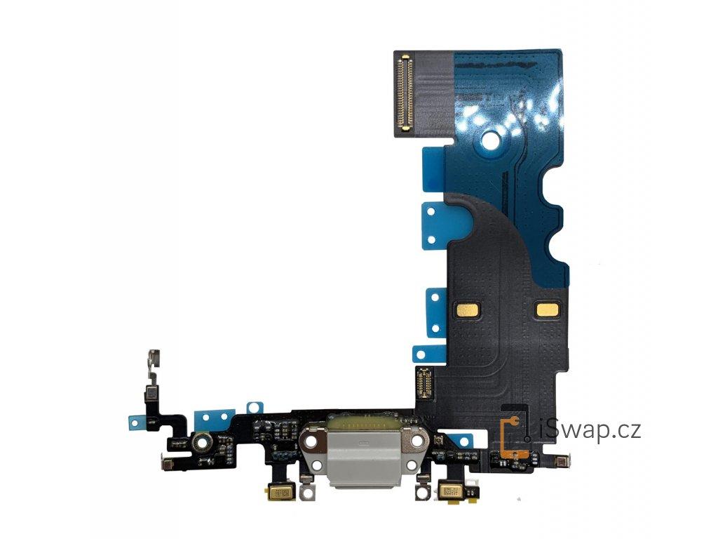 Nabíjecí konektor šedý pro Apple iPhone 8