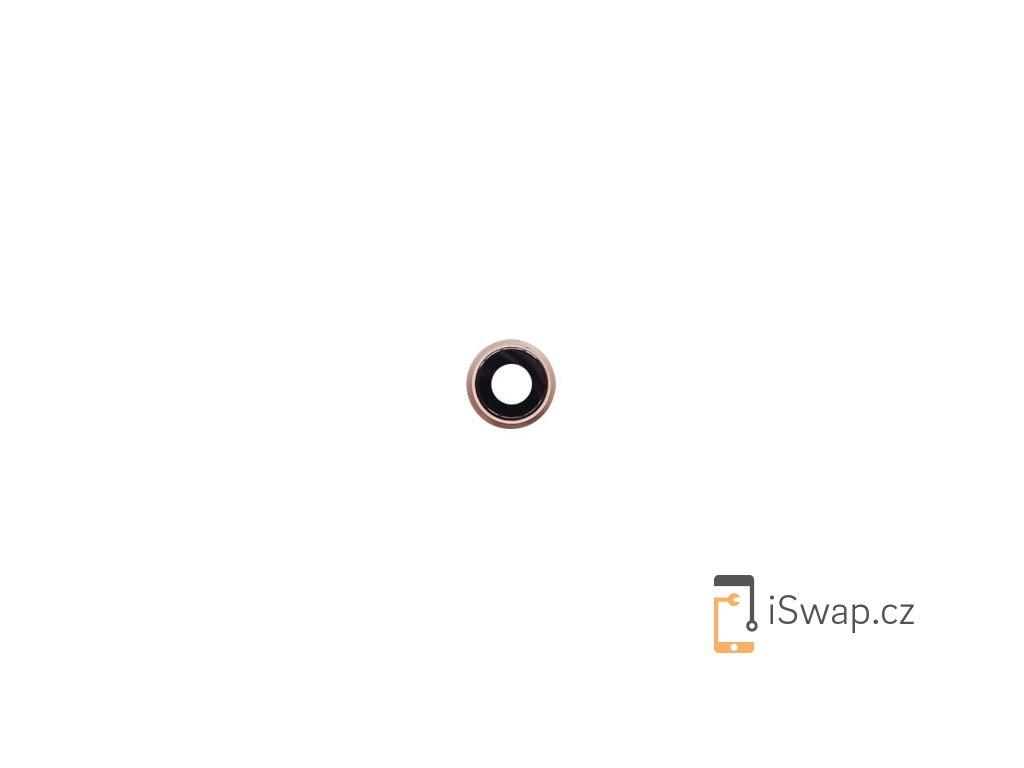 Náhradní slíčko kamery s rámečkem pro Apple iPhone 8 zlatý