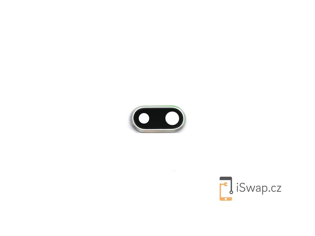 Zadní sklíčko kamery s rámečkem pro Apple iPhone 8 Plus stříbrný