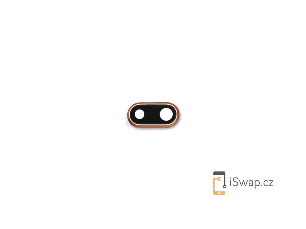 Sklíčko zadní kamery s rámečkem pro Apple iPhone 8 plus zlatý