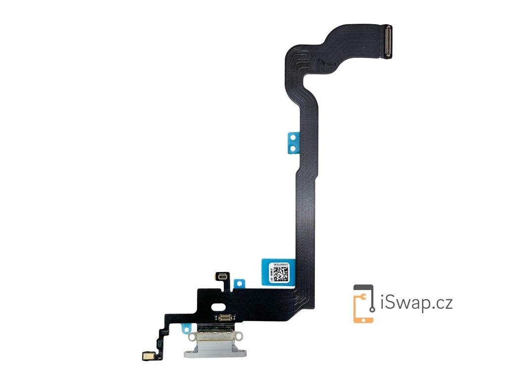 Nabíjecí konektor pro Apple iPhone X šedý