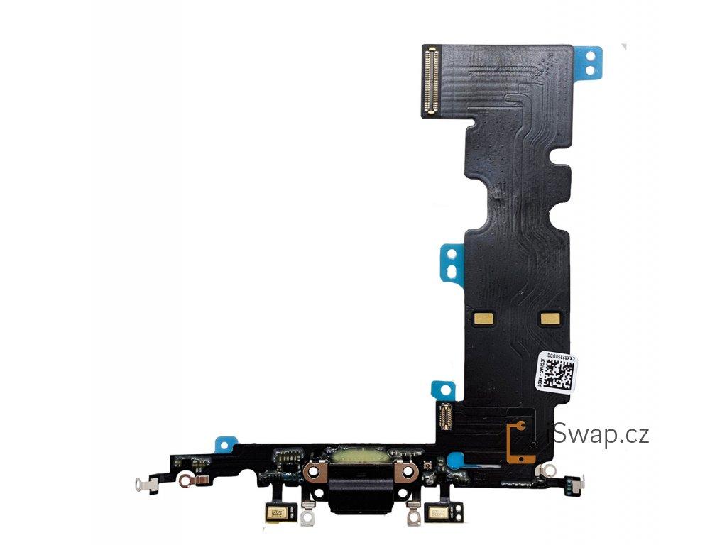 Nabíjecí konektor černý pro Apple iPhone 8 Plus