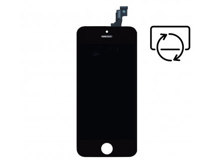 Originální repasovaný displej pro Apple iPhone 5S/SE černý