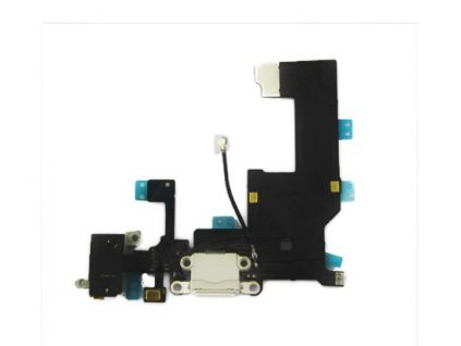 Nabíjecí konektor pro Apple iPhone 5 bílý
