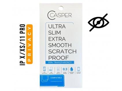 Privátní tvrzené sklo Casper Privacy pro Apple iPhone X / Xs / 11 Pro