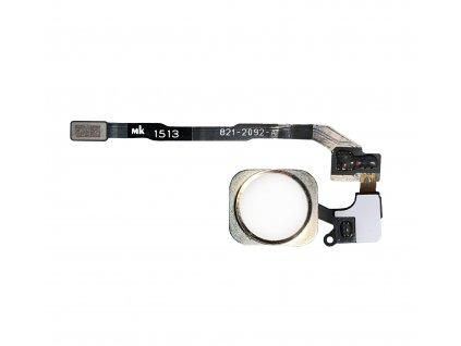 Domácí tlačítko bílé s zlatým lemováním pro Apple iPhone 5S/SE
