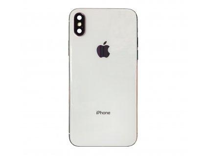 Osazený zadní kryt (housing) originální pro iPhone X Silver