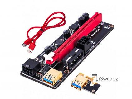 Mining Riser PCIe x1 na PCIe x16 (VER 009S)