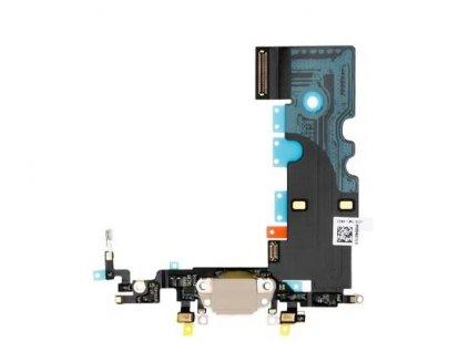 Nabíjecí konektor béžový pro Apple iPhone 8