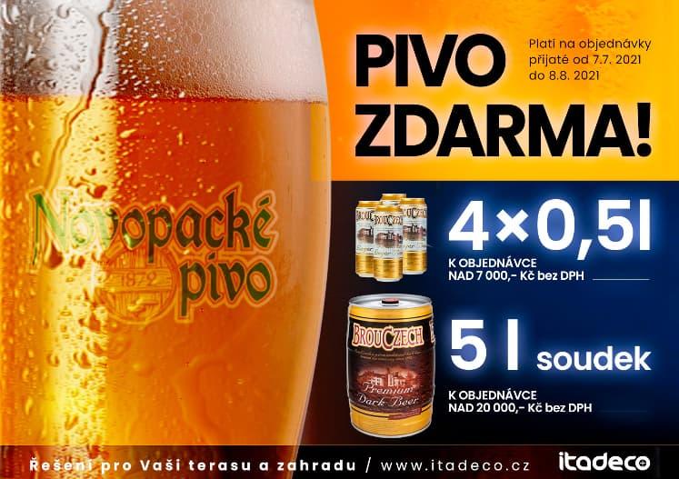 Letní akce pivo zdarma od ITADECO