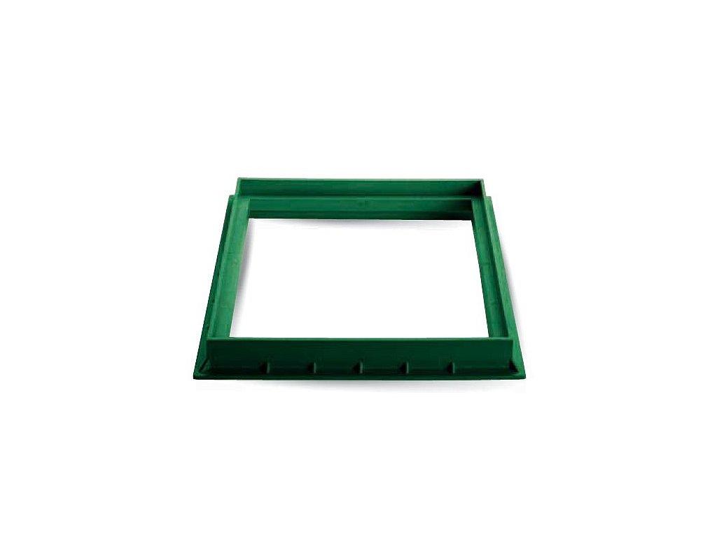 Rám z PP 400X400 zelený