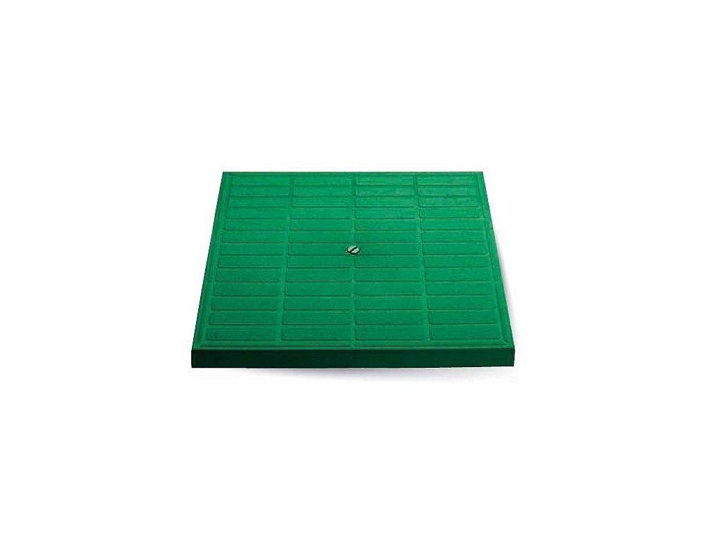 Poklop pochůzný zelený 300X300